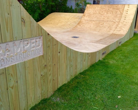 Backyard Bmx Ramps backyard bmx ramp - ramped construction